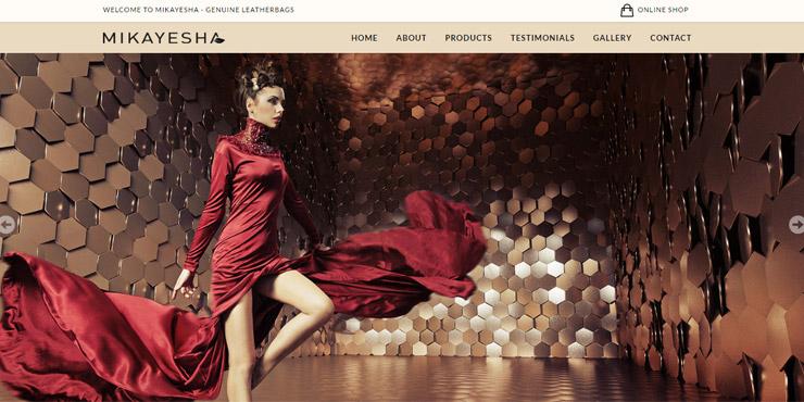jasa pembuatan website mikayesha leatherbags