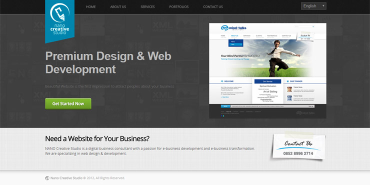 jasa pembuatan website nano creative studio