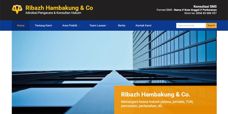 jasa pembuatan website ribazh hambakung