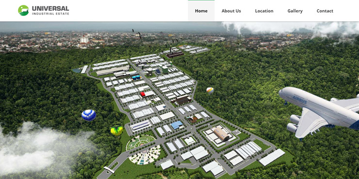 jasa pembuatan website universal industrial estate
