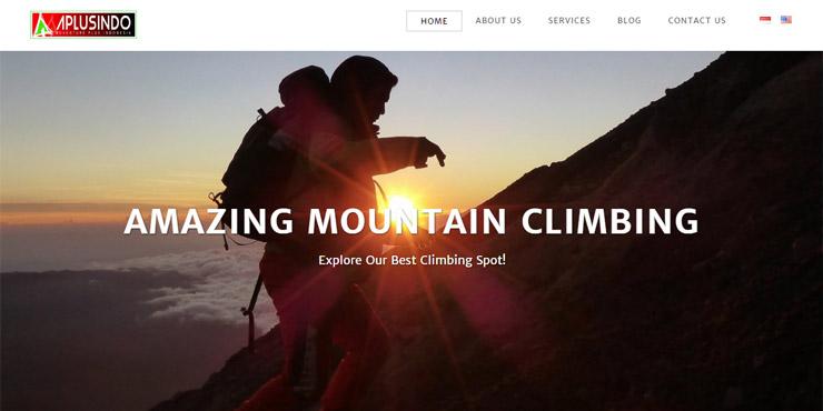 pembuatan website adventure plus indonesia