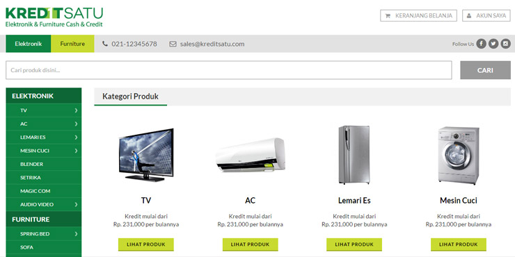 pembuatan website kredit satu