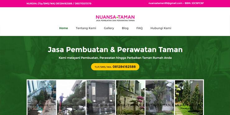 pembuatan website nuansa taman