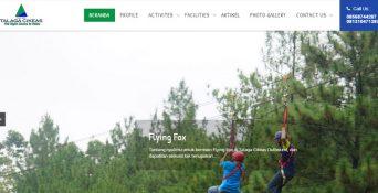 Pembuatan Website Talaga Cikeas Outbound