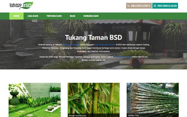 pembuatan website tukang taman bsd