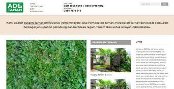 Pembuatan Website Tukang Taman Depok