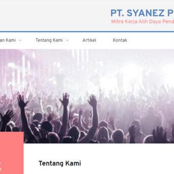 Pembuatan Website PT. Syanez Prima Jasa