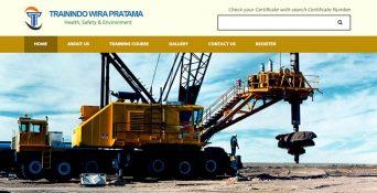 Website Sertifikasi – PT. Trainindo Wira Pratama