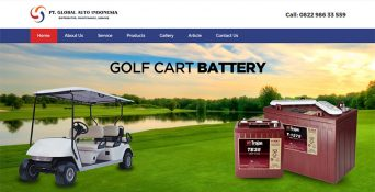Website Mobil Golf – PT Global Auto Indonesia