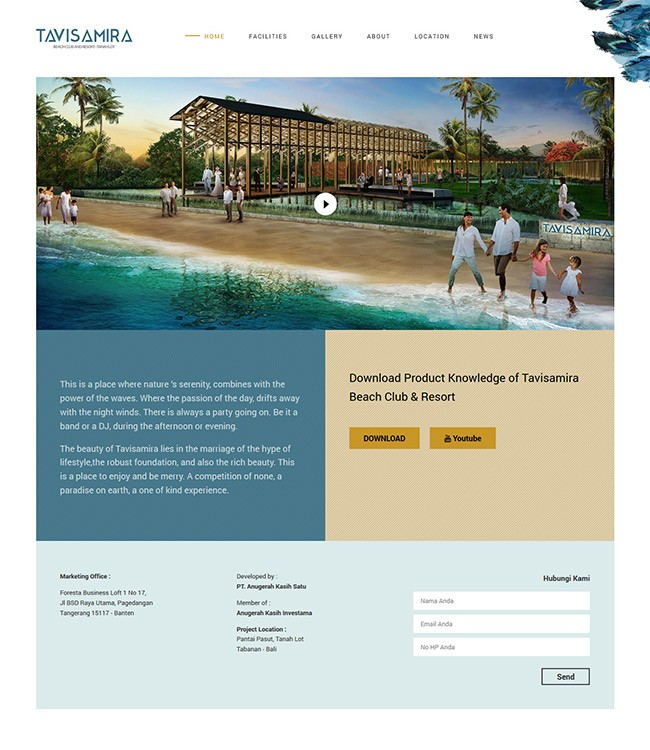 Website Resort Bali