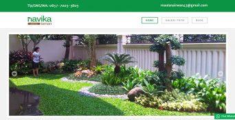 Website Tukang Taman Navika