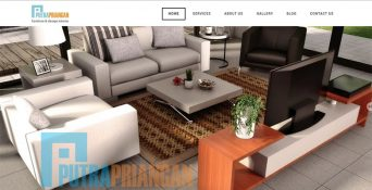 Website Design Interior – Putra Priangan