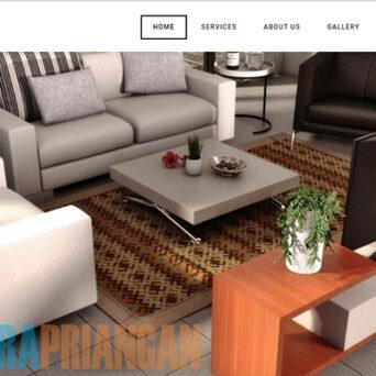 Website Design Interior – Putra Priangan