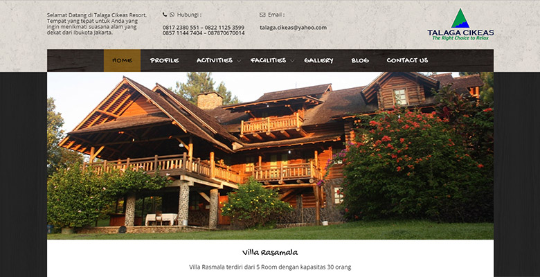 website resort outbound