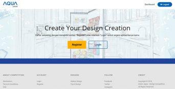 Microsite Design Competition AQUA Japan Indonesia