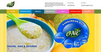 Website Bubur Bayi – ONiC