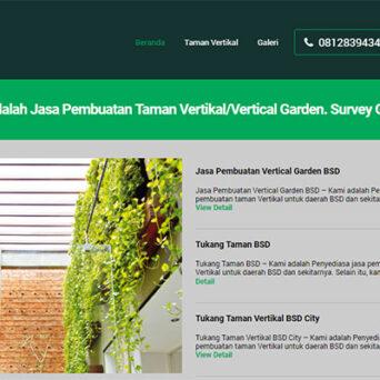 Website Tukang Taman Vertikal