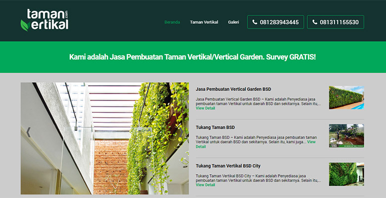 website taman vertikal
