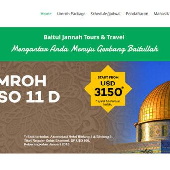 Website Umroh – Baitul Jannah Tour