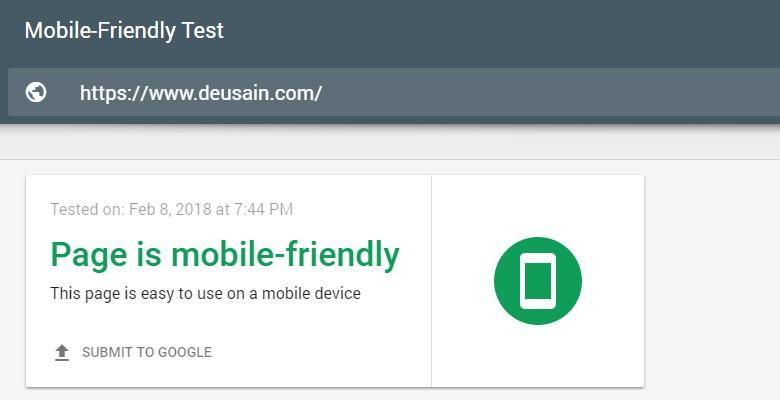 Mobie Friendly Test