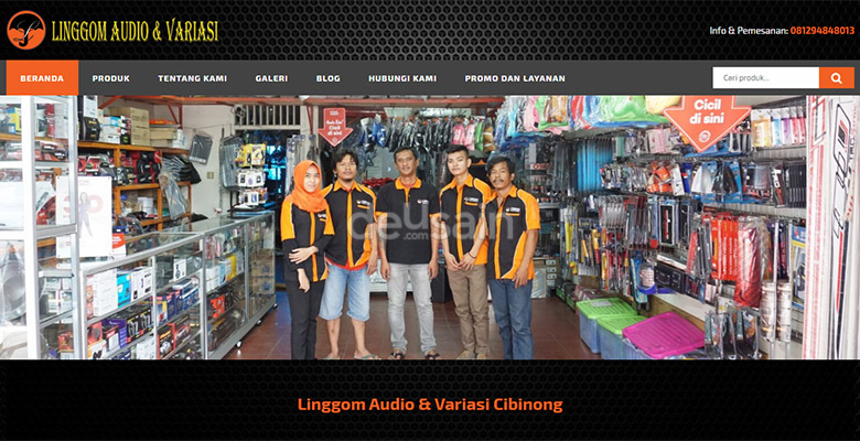 website audio variasi mobil