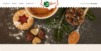 Website Cake & Bakery – Apple Donut Bakery
