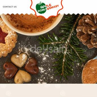 Website Cake & Bakery – Apple Donut Bakery