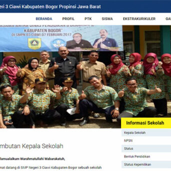 Website Sekolah – SMP Negeri 3 Ciawi Bogor