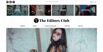 Website Fashion Magazine – The Editors Club