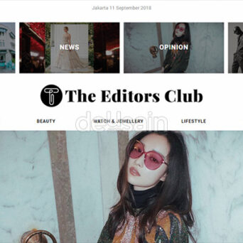 Website Fashion Magazine – The Editors Club