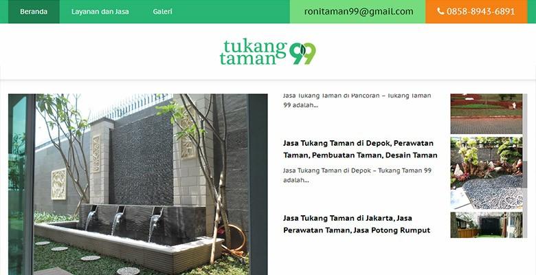 Website Jasa Bikin Taman