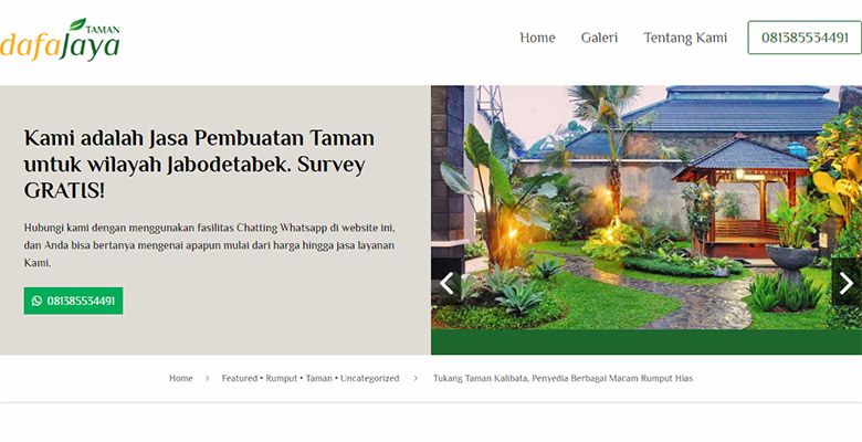 website jasa taman