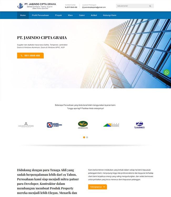website kontrator kaca gedung