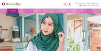 Website Kosmetik PharmaSkin Solution