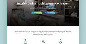 Website Jasa Interior, Eksterior dan Bangunan