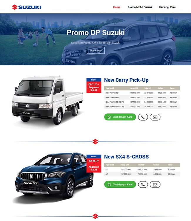 website marketing mobil suzuki