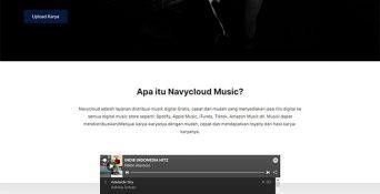 Website Distribusi Musik Digital – Navycloud