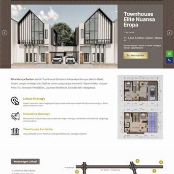 Website Property di Jakarta Barat – Elite Meruya Garden