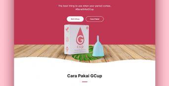 Website Menstrual Cup – GCup