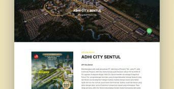 Website Property Adhi City Sentul