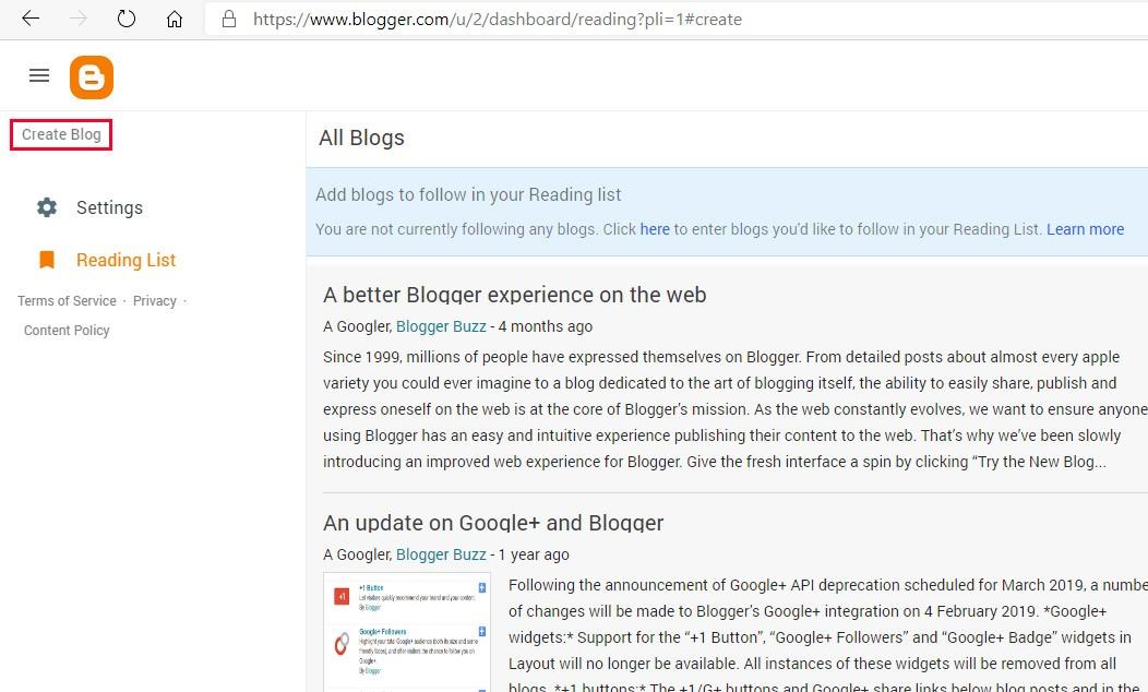 cara membuat blog langkah 3