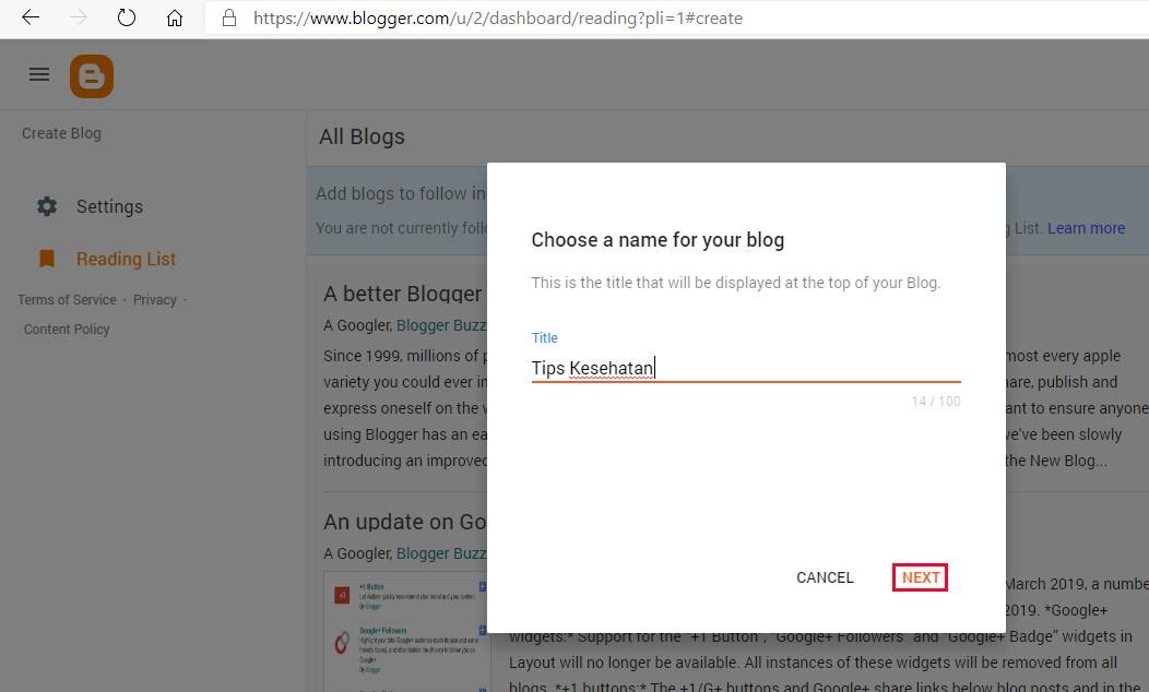 cara membuat blog langkah 3 a