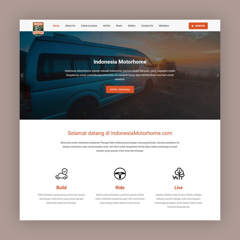 website komunitas motorhome