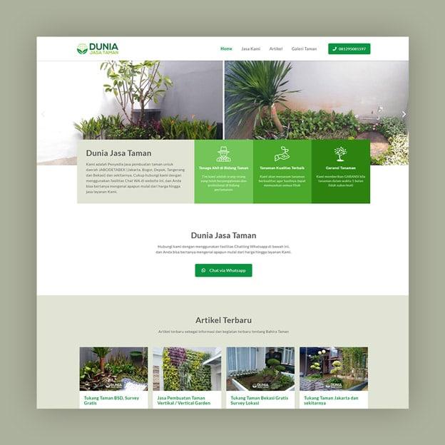 website jasa tukang taman