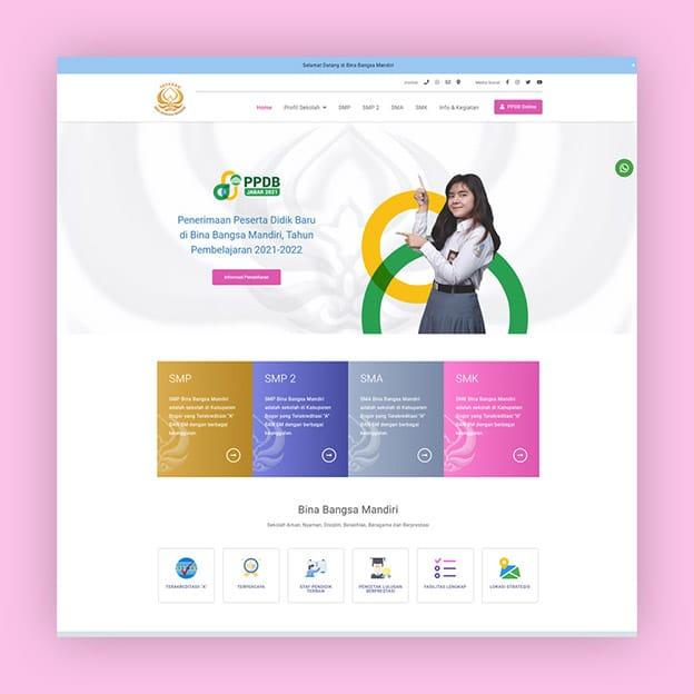 website sekolah swasta